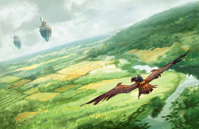 File:Dragonhawk Rider over Aundair.jpg