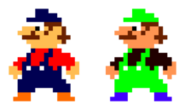 Mario and luigi pallete swaps