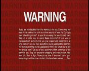 Fight Club Warning