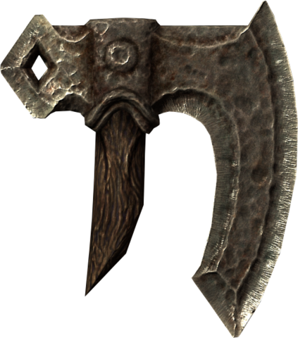 File:Broken iron war axe head.png