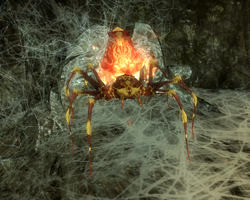 Flame Cloaked Spider