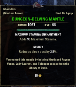 Dungeon-Delving Mantle
