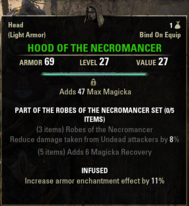 Robes of the Necromancer - Hood 27