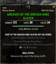 Dreugh King Slayer - Greaves 30