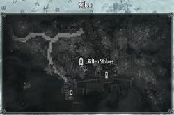 Riften Stables MapLocation