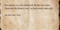 Letter to Laenira