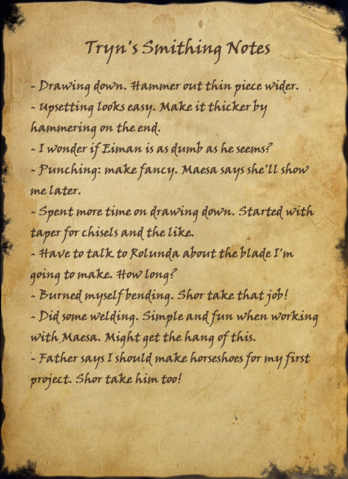 File:Tryn's Smithing Notes.png