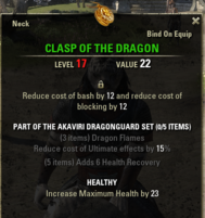 Akaviri Dragonguard - Clasp 17