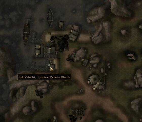 File:TES3 Morrowind - Ald Velothi - Lledsea Relas's Shack - location map.jpg