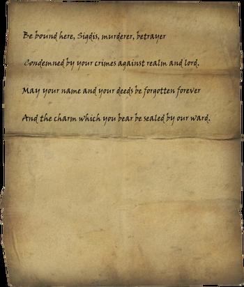 Sigdis's Writ of Sealing