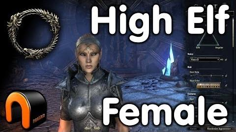 Elder Scrolls Online -- High Elf Female - Character Creation