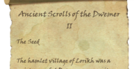 Ancient Scrolls of the Dwemer II