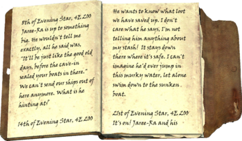 Hargar's Journal page 1 and 2
