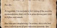 Letter of Understanding
