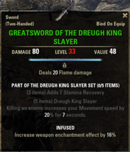 Dreugh King Slayer - Greatsword 33