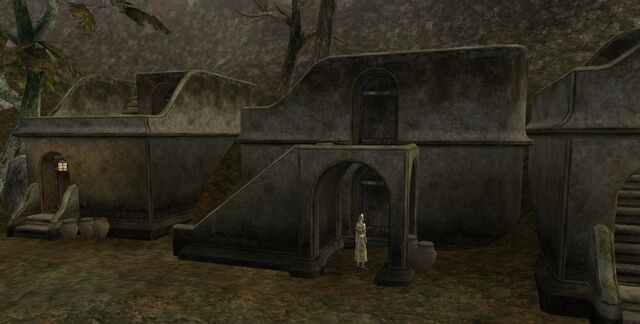 File:TES3 Morrowind - Balmora - Tyermaillin's House and Rithleen's House exterior.jpg