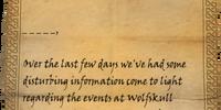 Letter from Falk Firebeard