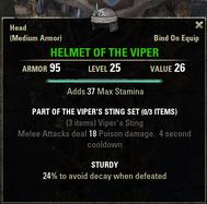 Vipers Sting - Helmet 25