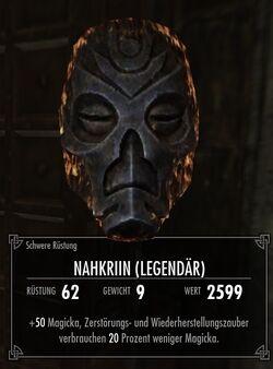 Nahkriins Maske