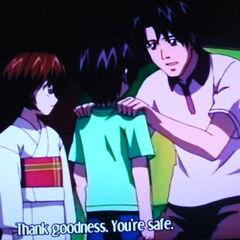 Yuka with Kouta and his Father