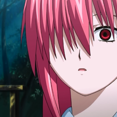 Lucy, shocked by Kouta's insistence she should stay with him and the rest at <a href=