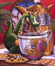 Dragon and his coffee