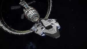E-D Python - Tactical Ice Skin leaving Station II