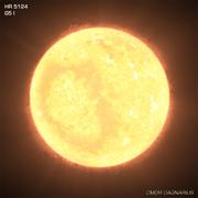 Yellow-White Supergiant Star