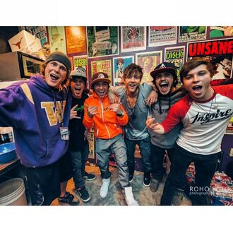 Emblem3 with Jack Ted anf Ryan