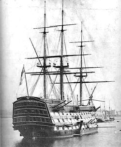 HMS Victory 1884