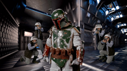 Boba Fett and Rebel Soldiers
