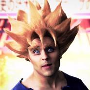 Super Saiyan Goku In Battle