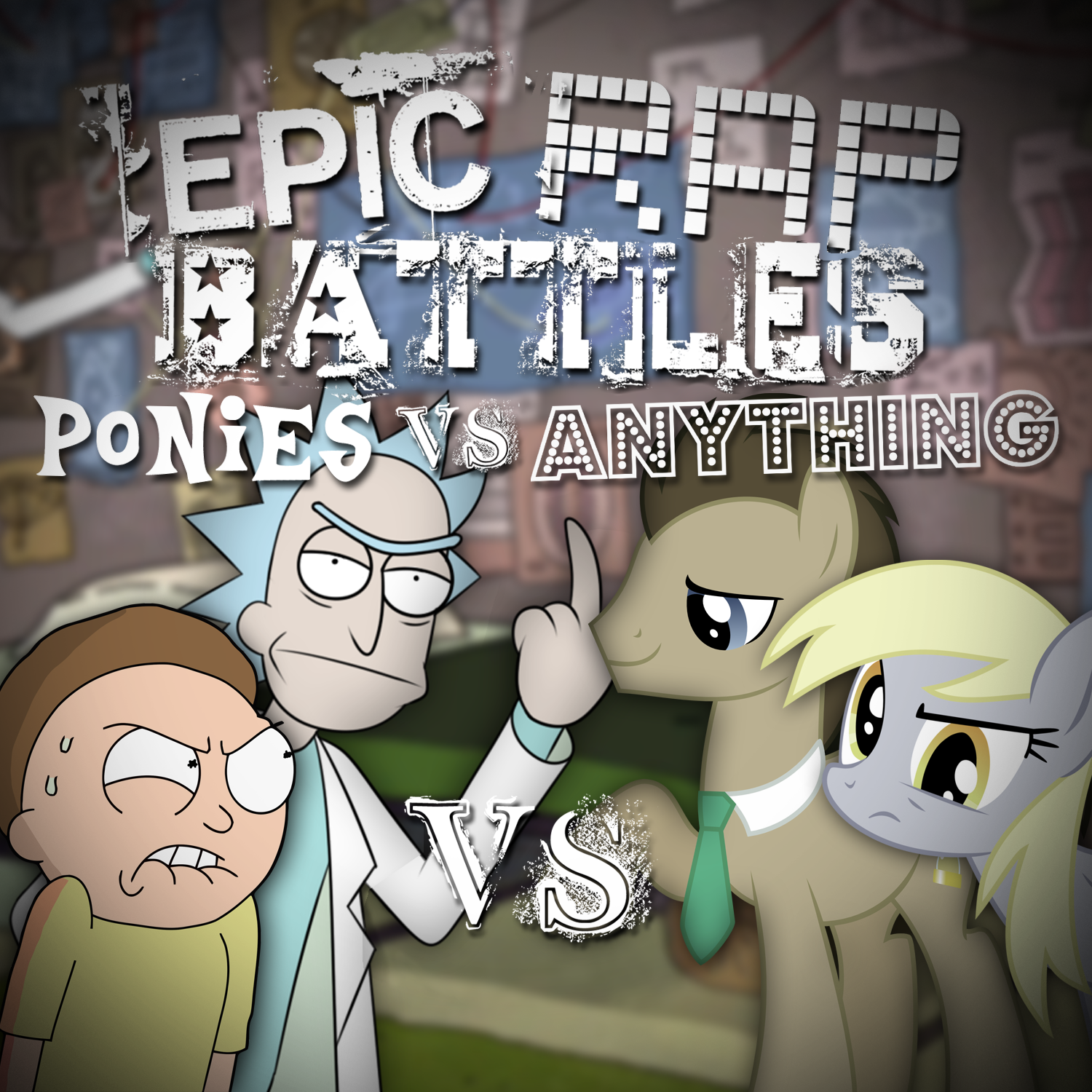 user blogskeeptieelrick and morty vs derpy and dr