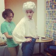 Nice Peter dressing up as Mozart