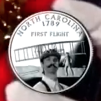 Orville Wright on a quarter