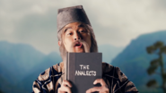 Confucius holding The Analects