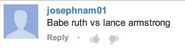 Babe Ruth vs Lance Armstrong Suggestion