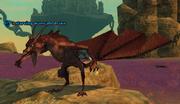 A starving warscale drake