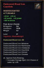 Darkruned Blood Iron Gauntlets