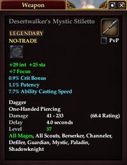 Desertwalker's Mystic Stiletto