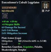 Executioner's Cobalt Legplates