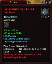 Legionnaire's Sigil Etched Pauldrons