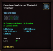 Gemstone Necklace of Blanketed Treachery
