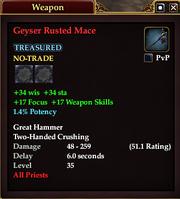 Geyser Rusted Mace
