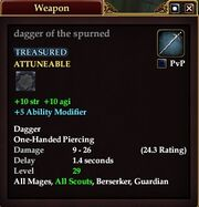 Dagger of the Spurned
