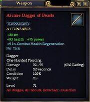 Arcane Dagger of Beasts