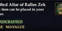 Crafted Altar of Rallos Zek