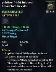 Pristine fright imbued broadcloth hex doll