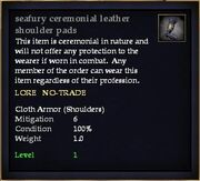 Seafury ceremonial leather shoulder pads
