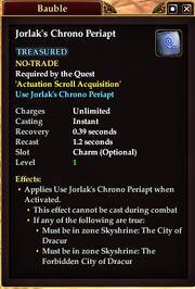 Jorlak's Chrono Periapt